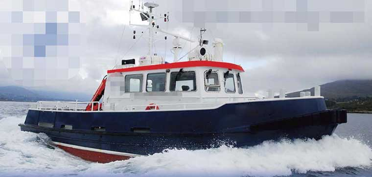 672 hp Twin Screw Work Boat for Charter