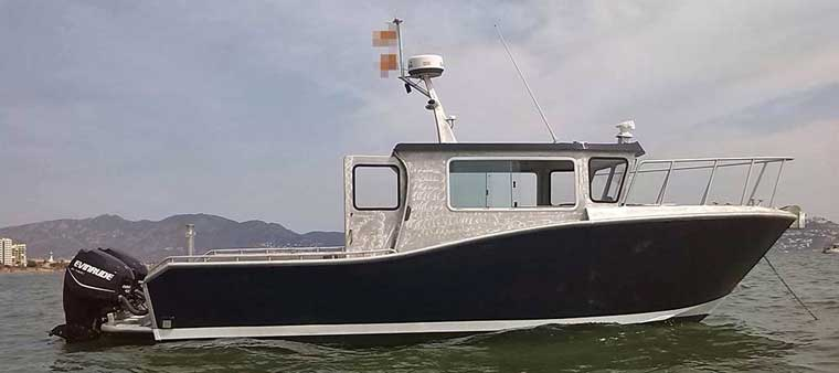8.6 m (28-feet) Aluminum Outboard Work Boat